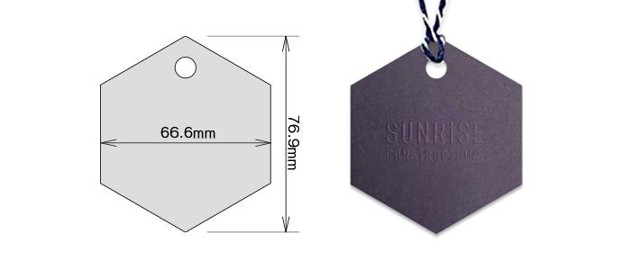 六角形タグ_型抜き印刷