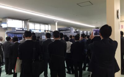 新台印刷機の内覧会が開催されました